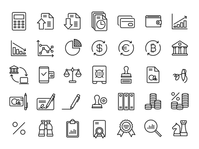 36 Beautiful free Finance/Accounting icons accounting finance wordpress svg vector icons