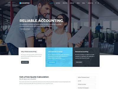 Accounting WordPress theme 10th demo finance consulting accounting design demo theme wordpress
