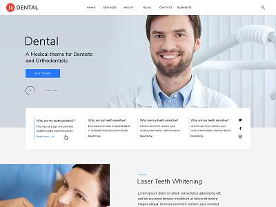 Dental WordPress Theme design psd wordpress dentist dental