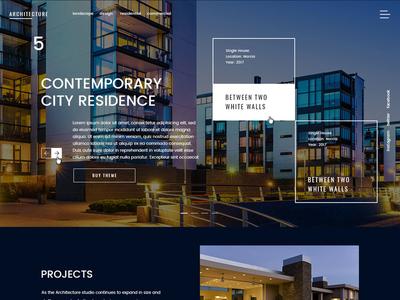 Architectural Design psd photoshop design theme wordpress architects