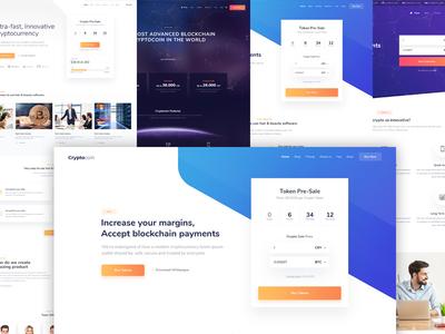 Cryptocurrency WordPress theme photoshop design wordpress cryptocurrency