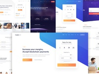 Cryptocurrency WordPress theme photoshop design wordpress cryptocurrency