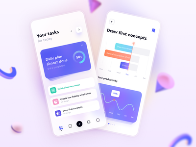 Task Management App time tracking productivity task list tasks task management minimal ux ui design