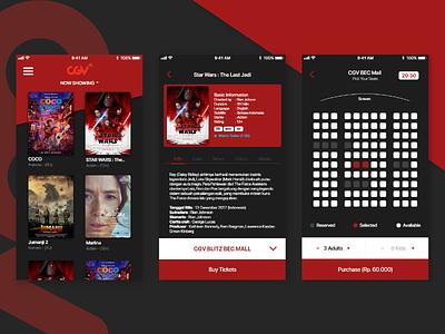 Movie Ticket Challenge movie cinema 2d app branding clean design flat