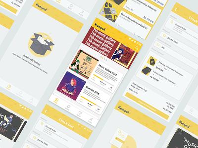 #Exploration   Event Fundraising App clean app mobile crowdfunding ux ui exploration 2d design