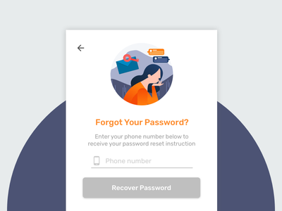 Forgot Password Illustration screen. exploration interface ui 2d design