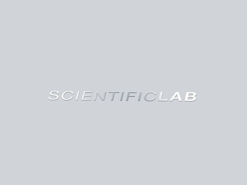 ScientificLab, a new generation products. foil stamping vector print paper mark logotype logo design corporate branding brand