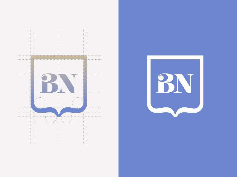 BN Logo Design vector design branding mark icon brand logotype logo