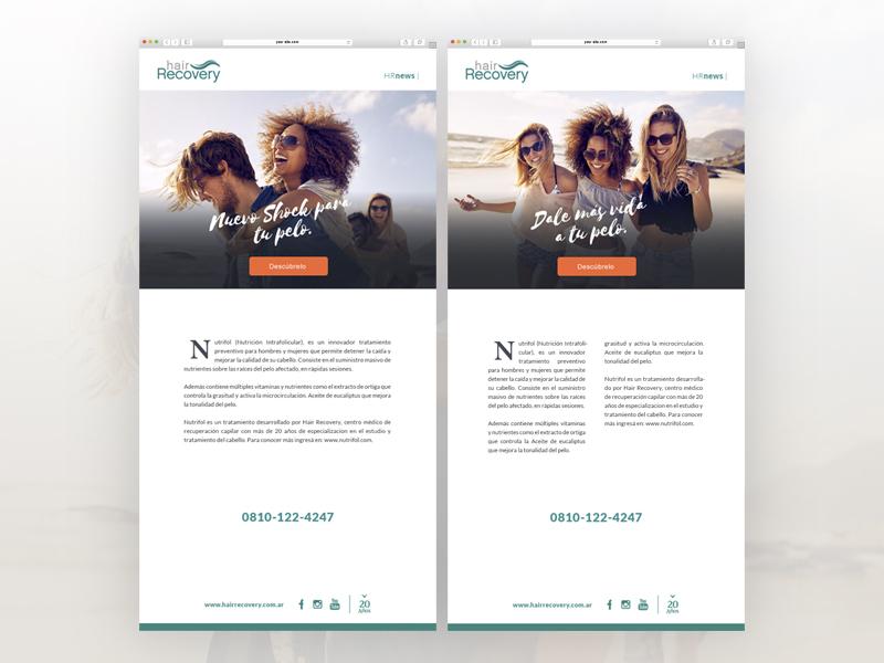 Corporate e-mail campaign flat minimal simple brand branding responsive art graphic design online design marketing emailing