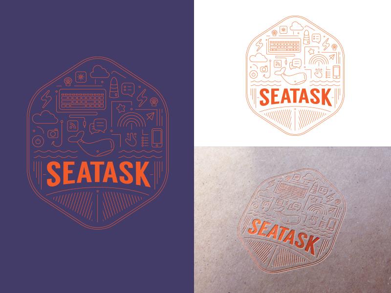 Seatask world internet mobydick sea vector sketch play love illustration graphic design art