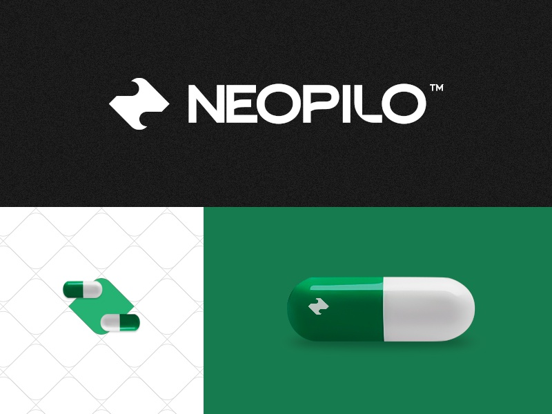 Neopilo medical symbol mark logo creative brand corporate branding design graphic