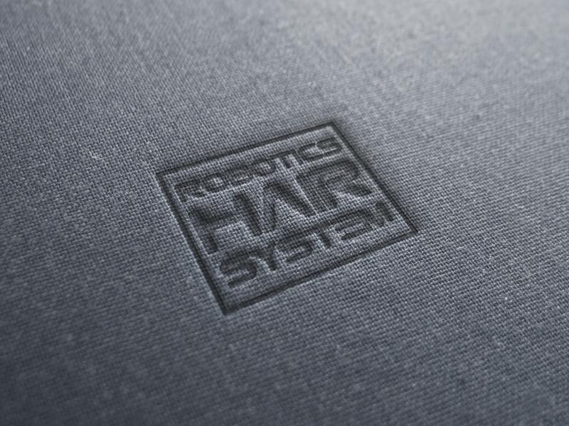 Robotics Hair System logotype icon design corporate logo branding