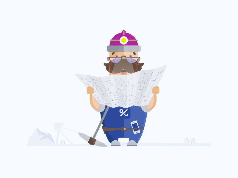 Wojtech map art campaigns woucherify api wojtech miner clean sketch fun design illustration