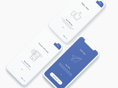 Mobile app on-boarding screens