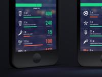 Kickster Manager Stats - COBE München UI Design