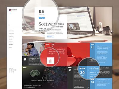 Insight Page Design munchen cobe cobemunich munich münchen news feed site ui interface user interface web