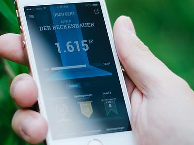 KKSTR Achievements  iphone app ios user interface ux interface münchen munich cobe cobemunich ui badgets