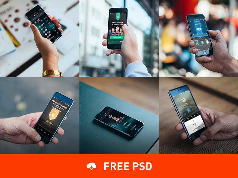 6 Photorealistic iPhone 6 mockups by COBE - Dribbble