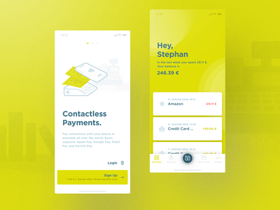 Wirecard Boon App web experience typography user interface munich interface illustration ios design app transactions onboarding money banking wirecard cobe münchen ui ux
