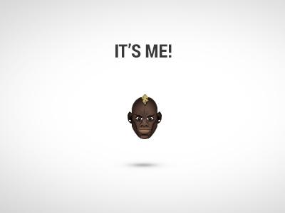It's me! Mario! emoticon ui smiley bad angry cobe munich design ux app game retina ac mailand milan ac milan italy italia mario balotelli bundesliga kkstr manager