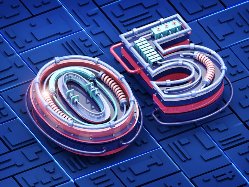 3D fonts by REETIME on Dribbble