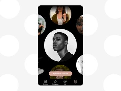 Transition card UI