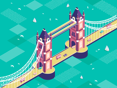 Tower Bridge linewisebypoojabhapkar alphabets isometry 36days-l 36daysoftype london towerbridge