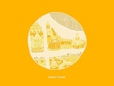 Madame Tussauds handdrawn city madame tussauds map adobe illustration london