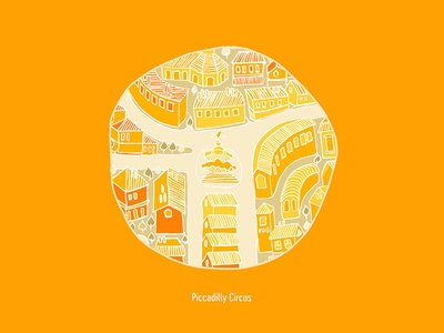 Piccadilly Circus handdrawn city piccadilly circus map adobe illustration london