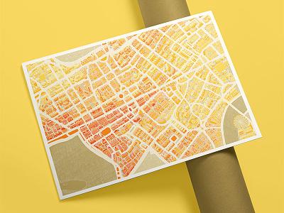 London City Map handdrawn city map adobe illustration london
