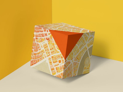 London Map for Square Box Packaging store design souvenir box square city london eye map adobe illustration london