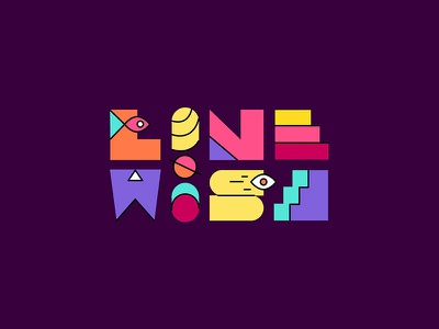 Linewise linewise by pooja bhapkar colourful graphic design studio self branding logo