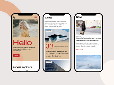 IHV mobile version home page website landing page homepage red white creative design adobe xd ui mobile design mobile ui