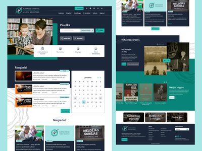 New library website white website landingpage home page homepage creative design adobe xd ui landing page