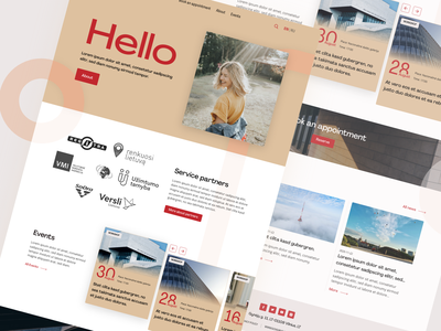 International house Vilnius Landing page suggestion adobe xd ui design creative hompage landingpage website white