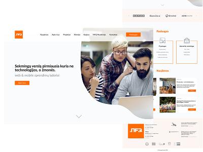 NFQ - landing page suggestion web design landing page design orange minimal ui