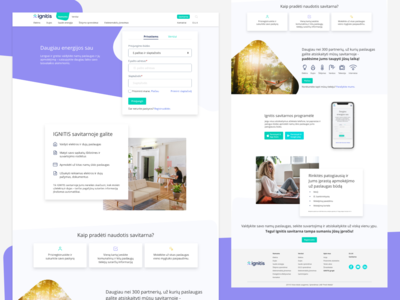 Energy provider landing page