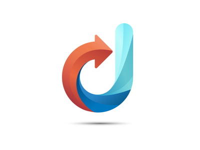 J Logo gradient vector branding identity illustrator logo