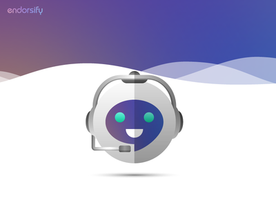 Chat Bot robot avatar bot vector branding identity illustrator