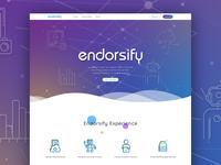 Endorsify Landing Page social media illustration gradient web design landing page branding identity illustrator