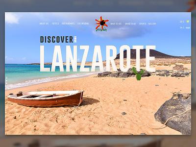 Lanzarote website travel ux uxdesign ui
