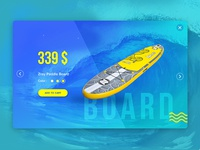 Paddle board product card
