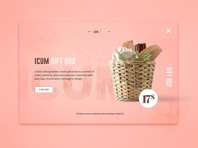 Giftbox card product app ux ui