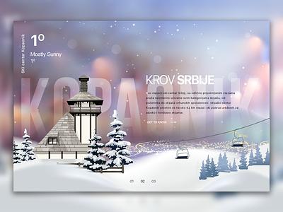 Kopaonik illustration web development travel card product app ux ui