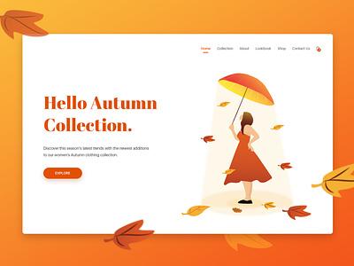 Autumn Collection fashion branding vector design ux design appdesign shop product card ux illustration ui