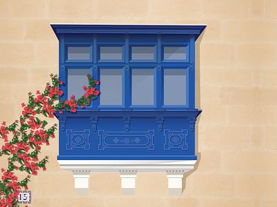 balcony balcony architecture vector uxdesign product design illustration