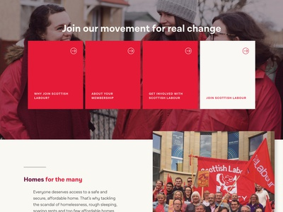 Scottish Labour Party Website website web ux ui scotland politics homepage landing page community