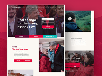 Scottish Labour Party Website website web ux ui scotland politics homepage landing page community