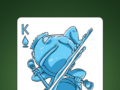 King of Spades aka King Of Water deck of elements magic cards magic card playing cards playing card poker cards poker card king of water king of spades linedetail line