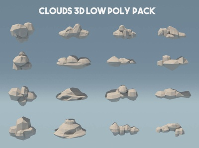 Clouds 3D Low Poly Pack